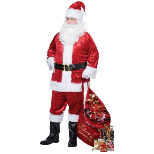 【ポイント最大29倍●お買い物マラソン限定!エントリー】Santa Claus スーツs 大人用 クリスマス ハロウィン コスチューム コスプレ 衣装 変装 仮装