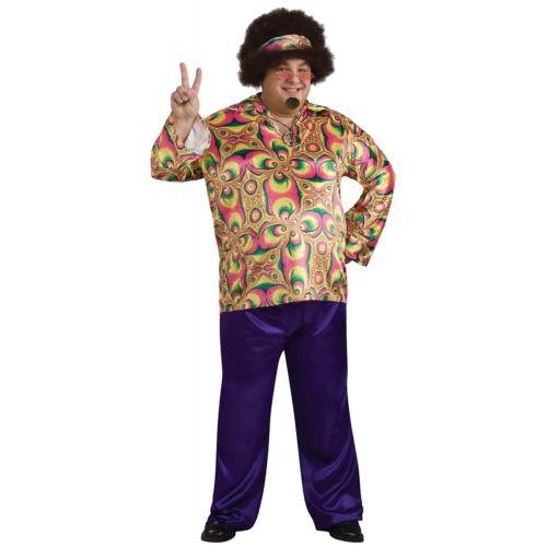 【ポイント最大29倍●お買い物マラソン限定!エントリー】ヒッピー 大人用 男性用 メンズ 60s - 70s ハロウィン コスチューム コスプレ 衣装 変装 仮装