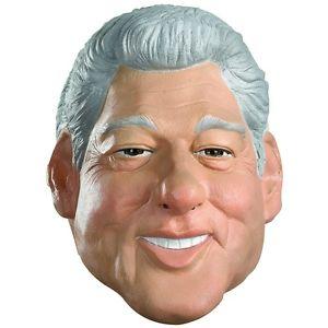 【ポイント最大29倍●お買い物マラソン限定!エントリー】Bill Clinton マスク 大人用 President おもしろい 90s ハロウィン コスチューム コスプレ 衣装 変装 仮装