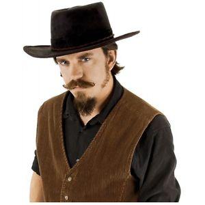ブラック Cowboy Hat 大人用 男性用 メンズ Western ハロウィン コスチューム コスプレ 衣装 変装 仮装