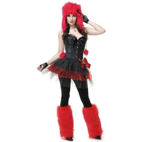 Red モンスター with Bow 大人用 レディス 女性用 ハロウィン コスチューム コスプレ 衣装 変装 仮装