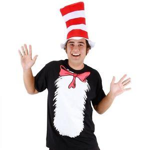 【ポイント最大29倍●お買い物マラソン限定!エントリー】Cat in The Hat T-シャツKit 大人用 おもしろい Dr Seuss ハロウィン コスチューム コスプレ 衣装 変装 仮装