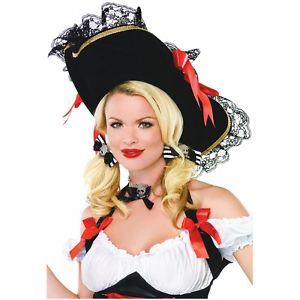 Pirate Hat レディス 女性用 Pirate アクセサリー 大人用 Teen クリスマス ハロウィン コスチューム コスプレ 衣装 変装 仮装