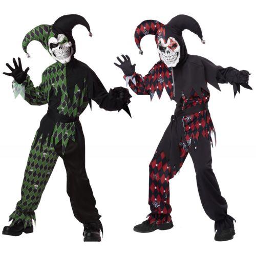Evil Jester キッズ 子供用 怖い スケルトン がいこつ ハロウィン コスチューム コスプレ 衣装 変装 仮装