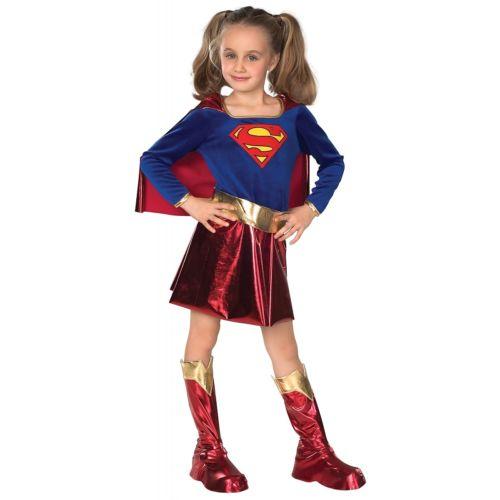 Deluxe SupergirlChild ガール Superhero Super Friends Hero クリスマス ハロウィン コスチューム コスプレ 衣装 変装 仮装
