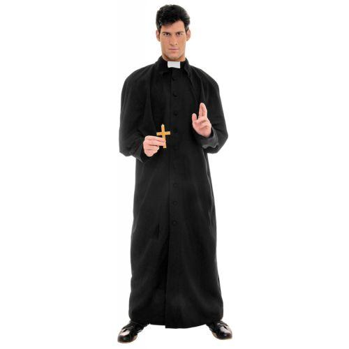 Deluxe コスチューム Priest 衣装 大人用 仮装 ブラック ローブ Father ハロウィン コスチューム コスプレ 衣装 変装 仮装, eイヤホン:a653e833 --- officewill.xsrv.jp