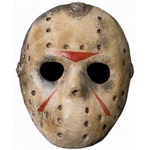 Deluxe Jason ジェイソン 13日の金曜日Hockey Mask Friday the 13th 大人用 男性用 メンズ アクセサリー ハロウィン コスチューム コスプレ 衣装 変装 仮装