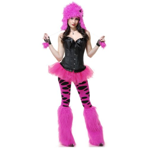 Hot Pink モンスター with Bow SetSet 大人用 レディス 女性用 クリスマス ハロウィン コスチューム コスプレ 衣装 変装 仮装
