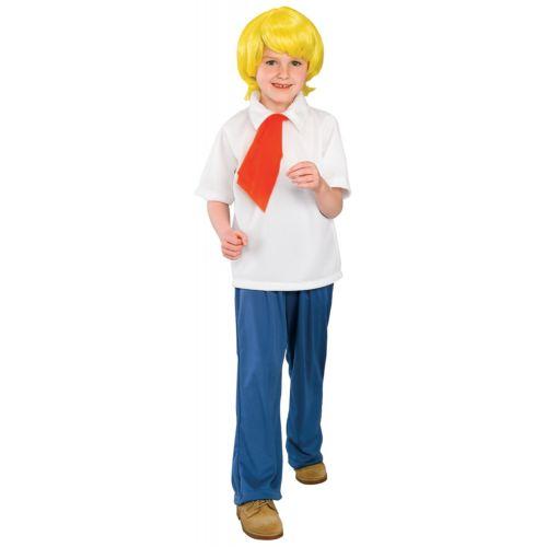 Fレッド キッズ 子供用 Scooby-Doo クラシック 漫画 ハロウィン コスチューム コスプレ 衣装 変装 仮装