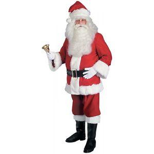 Santa スーツ 大人用 男性用 メンズ Deluxe Red Velvet クリスマス クリスマス ハロウィン コスチューム コスプレ 衣装 変装 仮装