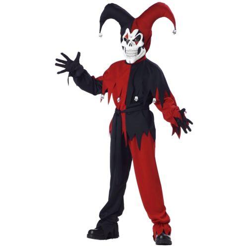 Evil Jester キッズ 子供用 怖い ハロウィン コスチューム コスプレ 衣装 変装 仮装
