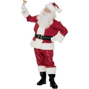 Red 衣装 キラキラ Red Santa スーツ 大人用 Deluxe Claus クリスマス ハロウィン ハロウィン コスチューム コスプレ 衣装 変装 仮装, ベルモード:9874cb4b --- officewill.xsrv.jp