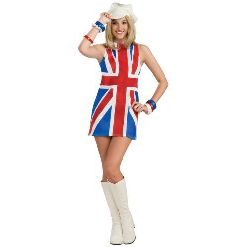 【全品P5倍】British Invasion 大人用 Union Jack Flag ドレス クリスマス ハロウィン コスチューム コスプレ 衣装 変装 仮装