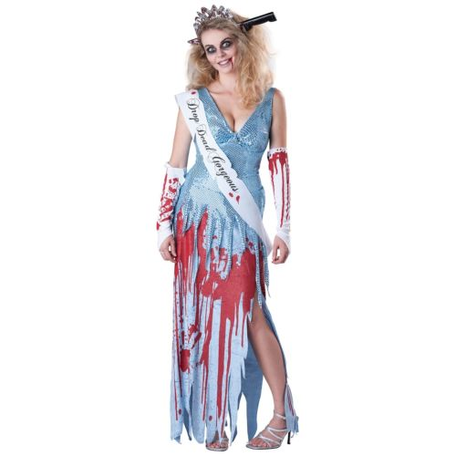 Drop Dead Gorgeous 大人用 おもしろい ゾンビ 幽霊 お化け Prom Queen Beauty 怖い ハロウィン コスチューム コスプレ 衣装 変装 仮装