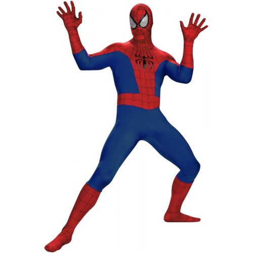 Spiderman スパイダーマン 大人用 Super Dlx The Amazing Spider-Man スパイダーマン クリスマス ハロウィン コスチューム コスプレ 衣装 変装 仮装