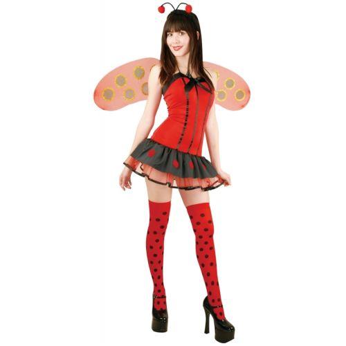 【マラソン全品P5倍】Lady Bug 大人用 Ladybug with Stockings クリスマス ハロウィン コスチューム コスプレ 衣装 変装 仮装