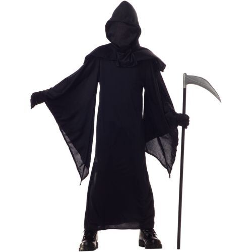 Horror ローブ Child Preteen Tween ブラック Hooded Cloak Grim Reaper ハロウィン コスチューム コスプレ 衣装 変装 仮装