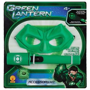 グリーン Lantern グリーンランタンKit Child Boys Flashlight, Mask & Light-up Ring アクセサリー ハロウィン コスチューム コスプレ 衣装 変装 仮装