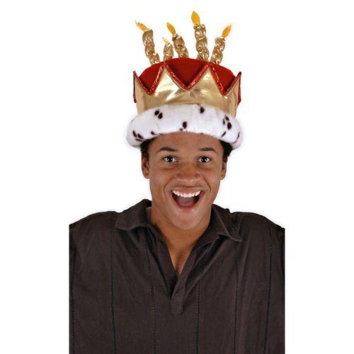 Birthday King Hat アクセサリー 大人用 男性用 メンズ Plush Royal Crown Cake ハロウィン コスチューム コスプレ 衣装 変装 仮装