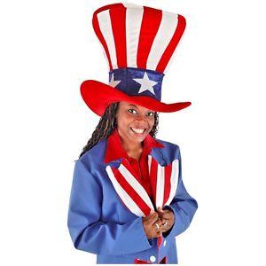 【ポイント最大29倍●お買い物マラソン限定!エントリー】Giant Uncle Sam Top Hat Funny 大人用 4th of July アクセサリー ハロウィン コスチューム コスプレ 衣装 変装 仮装