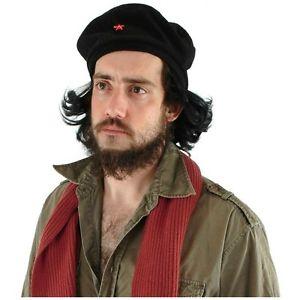 【ポイント最大29倍●お買い物マラソン限定!エントリー】Che Guevara Hat w/ Hair 大人用 男性用 メンズ ミリタリー 軍隊 Beret ハロウィン コスチューム コスプレ 衣装 変装 仮装