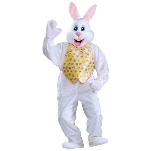【全品P5倍】Deluxe バニー うさぎ バニーガール 大人用 ホワイト ウサギ Mascot スーツ Easter クリスマス ハロウィン コスチューム コスプレ 衣装 変装 仮装