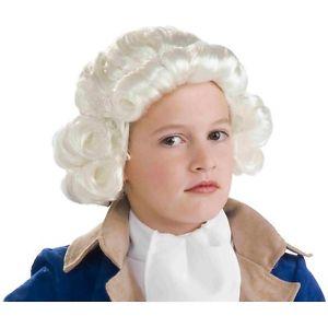 Child Colonial Wig アクセサリー キッズ 子供用 Boys 4th of July ハロウィン コスチューム コスプレ 衣装 変装 仮装