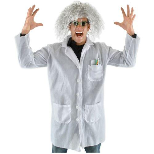 Mad ScientistKit 大人用 男性用 メンズ Doc Brown おもしろい ハロウィン コスチューム コスプレ 衣装 変装 仮装