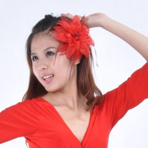 Hot ベリーダンス 衣装 headドレス flower 11 カラー コスチューム ダンス 衣装 発表会