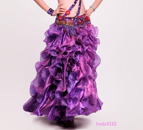New Professional Belly Dance Costume Waves Skirt Dress with slit Skirt 7 Colors プロフェッショナル ベリーダンス 衣装 Waves スカート ドレス with slit スカート 7 カラー コスチューム ダンス 衣装 発表会