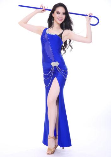 セクシー ベリーダンス 衣装 sheer micro mesh ロング ドレス ロング スカート 8 カラー コスチューム ダンス 衣装 発表会