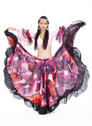ベリーダンス 衣装 Tribal Bohemia Gypsy 720°Big ドレス スカート&ブラウス トップ 2 カラー コスチューム ダンス 衣装 発表会