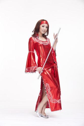 ベリーダンス 衣装 3 セット ベルト&ヒップスカーフ&ロング スカート ドレス 32-34A/B/C 9 カラー コスチューム ダンス 衣装 発表会
