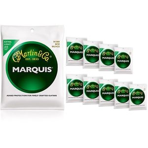【全品P5倍】マーチン Martin M1000 Marquis 80/20 Bronze Extra Light Acoustic Strings 10-Pack