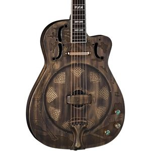 ディーン Dean Thinbody Cutaway Acoustic-Electric Resonator Guitar Heirloom Brass LN