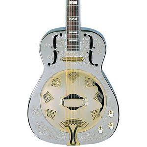 【全品P5倍】ディーン Dean Chrome G Acoustic-Electric Resonator Guitar Chrome/Gold LN