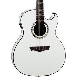 【マラソン全品P5倍】ディーン Dean Exhibition Ultra Classic Black Acoustic-Electric w/USB Classic White
