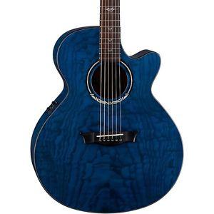 ディーン Dean Performer Ultra Quilt Acoustic-エレキギター エレクトリックギター Trans Blue