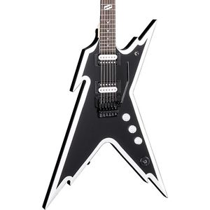 ディーン Dean Dimebag Razorback DB エレキギター エレクトリックギター with Floyd Rose Bridge Black and White