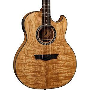 ディーン Dean Exhibition Quilt Ash Acoustic-エレキギター エレクトリックギター with Aphex Gloss Natural