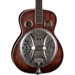 ディーン Dean Resonator Spider Acoustic Guitar Antique Distressed Natural Oil LN