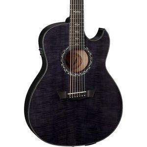 ディーン Dean Exhibition Ultra 7-String Acoustic-エレキギター エレクトリックギター Transparent Black
