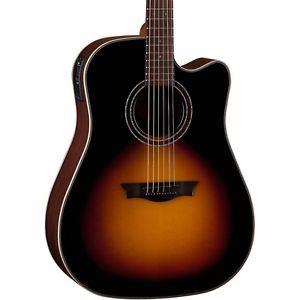 【全品P5倍】ディーン Dean Natural Series Dreadnought Cutaway Acoustic-Elec Guitar Tobacco Sunburst LN