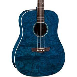 ディーン Dean AXS Dread Quilt Acoustic Guitar Trans Blue