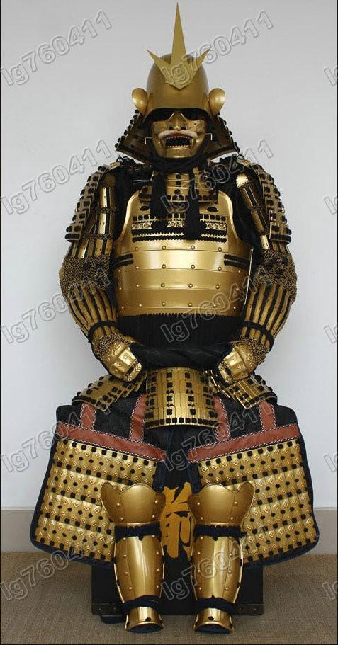 【甲冑 等身大 着用可能】黄金の甲冑 五月人形 鎧 具足 武士 鎧兜 五月人形 端午の節句 レプリカ