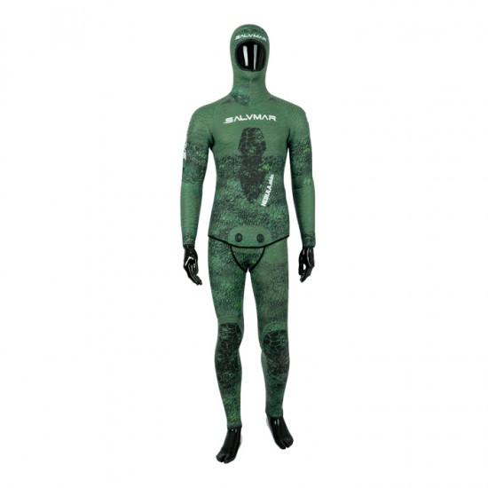 Salvimar サルビマー 7 mm 2ピース ダイビング ウェットスーツ NEBULA GREEN スピアフィッシング 魚突き 手銛 スキューバダイビング シュノーケル ウエットスーツ スノーケル ダイブ ウェット セミドライ スーツ フルスーツ マリンスポーツ
