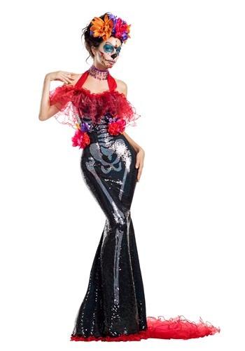 Women's Glamour Muerta Day of the Dead コスチューム ハロウィン レディース コスプレ 衣装 女性 仮装 女性用 イベント パーティ ハロウィーン 学芸会