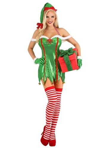 Women's セクシー Green Glitter Elf コスチューム ハロウィン レディース コスプレ 衣装 女性 仮装 女性用 イベント パーティ ハロウィーン 学芸会