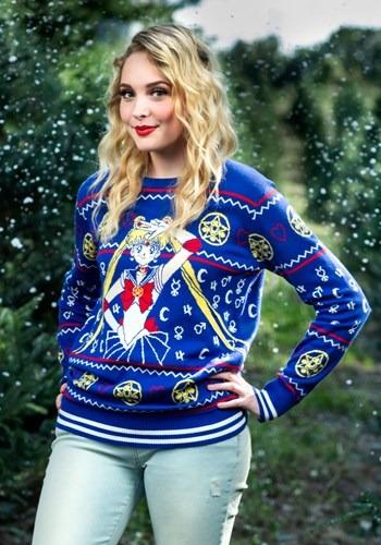 【全品P5倍】大人用 Sailor Moon Fair Isle Ugly Christmas Sweater ハロウィン レディース コスプレ 衣装 女性 仮装 女性用 イベント パーティ ハロウィーン 学芸会