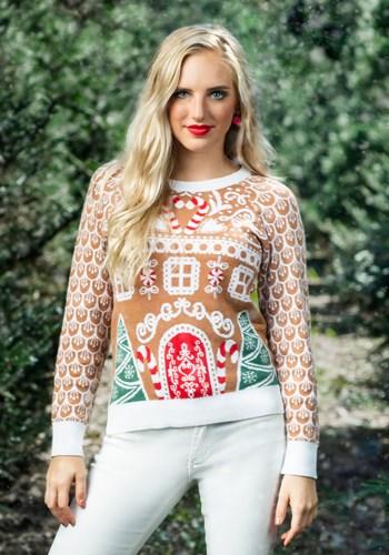 Women's Gingerbread House Ugly Christmas Sweater ハロウィン レディース コスプレ 衣装 女性 仮装 女性用 イベント パーティ ハロウィーン 学芸会